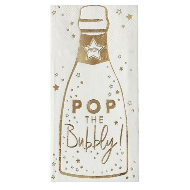 Ginger ray - Pop The Bubbly Bottle Napkins