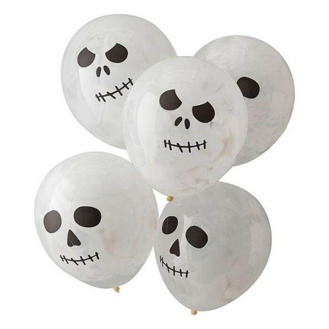 Ginger ray - Skeleton Print Balloons
