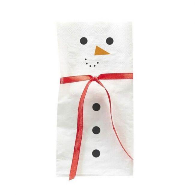 Ginger ray - Snowman Napkin