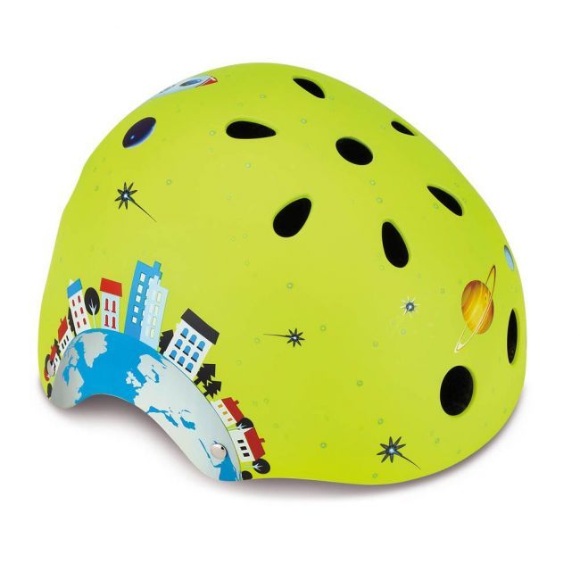 Globber - Printed Helmet Junior Rocket-Lime Green Xs-S-51-54Cm
