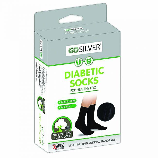 Go Silver - Diabetic Socks - Black