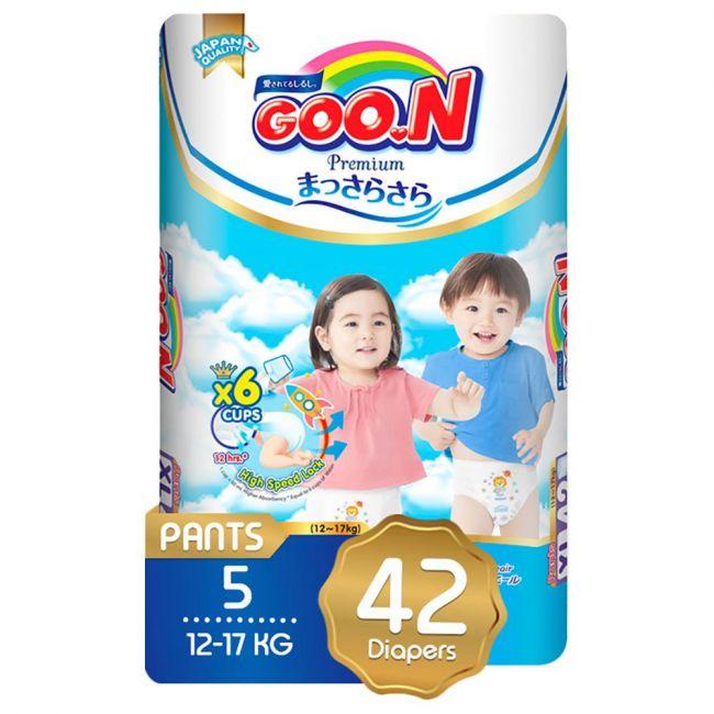 GOO.N Premium Pants SJP XL Size 12-17kg - 42pcs