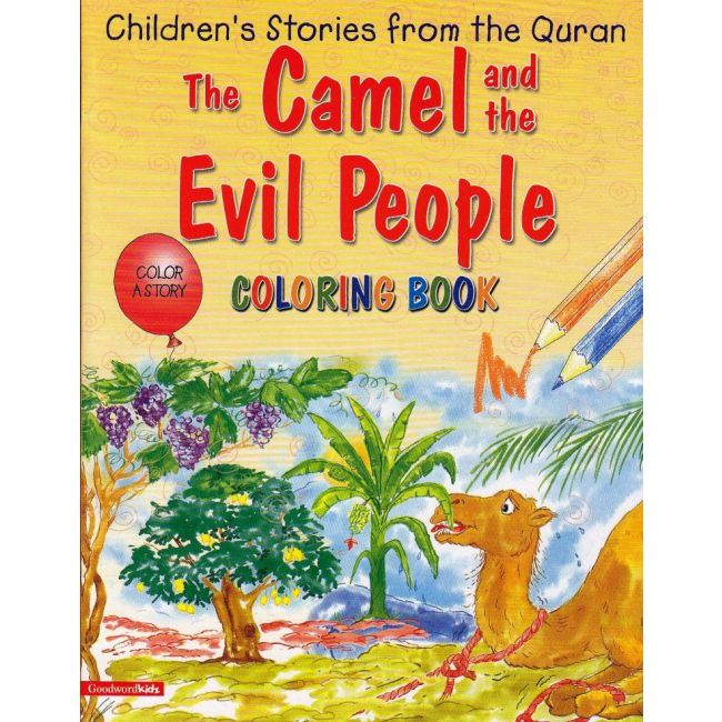 Goodword - The Camel And The Evil People Coloring Book
