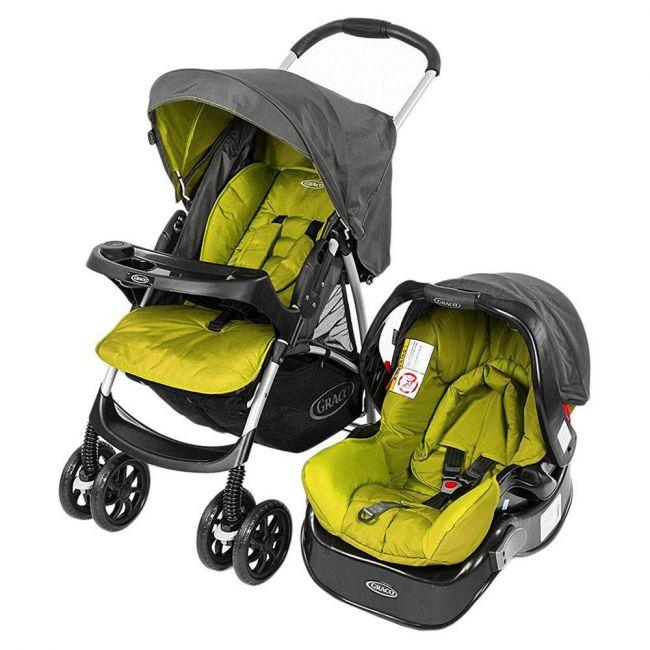 Graco - Travel System Candy Rock Rock2 Car Seat & Stroller Set
