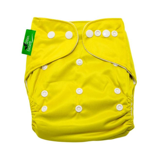 Green Future - Baby Pocket Cloth Diapers All In One Reusable Yellow