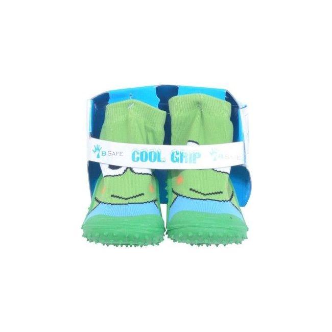 Cool Grip Green Baby Shoe Socks
