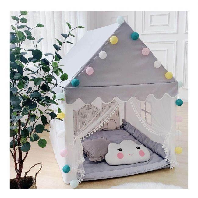 Avrsol - Kids Play Tent - Large Playhouse Children Play Castle Fairy Tent - Grey