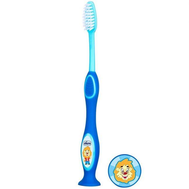 Chicco - Milk Teeth Toothbrush - 3-6 Years - Blue