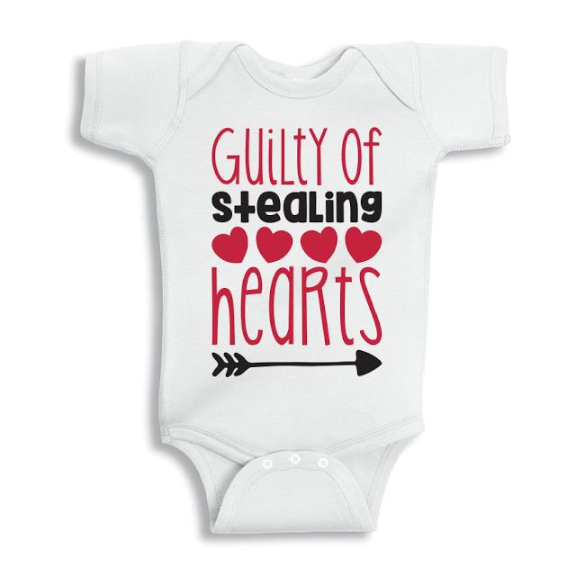 Twinkle Hands Guilty of stealing hearts Baby Onesie, Bodysuit, Romper