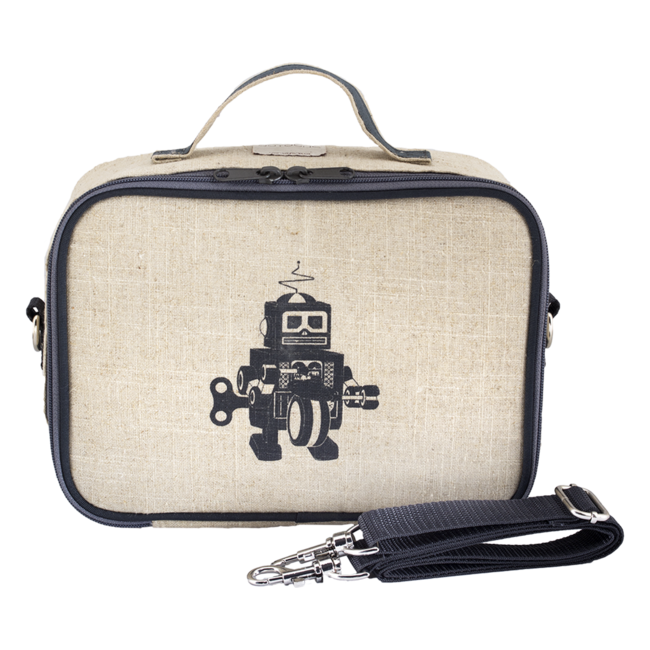 SoYoung Raw linen Grey Robot Lunch Box