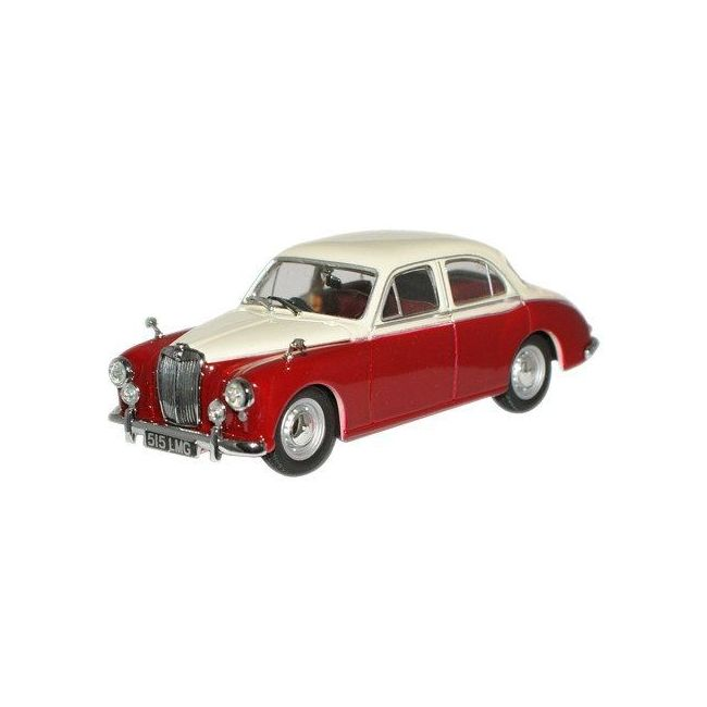 Oxford Diecast Ivory/Autumn Red MGZB Varitone Toy Car