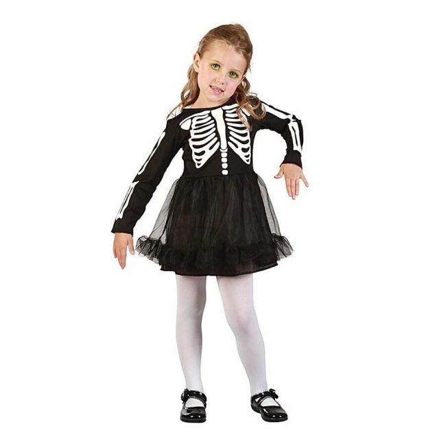 Halloween - Skeleton Girl Toddler Costume