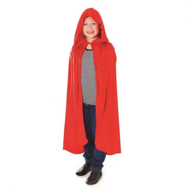 Halloween - Velvet Red Hooded Cloak Costume Accessory