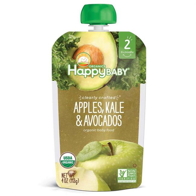 Happy Baby - S2 Apples, Kale & Avocados, 113g