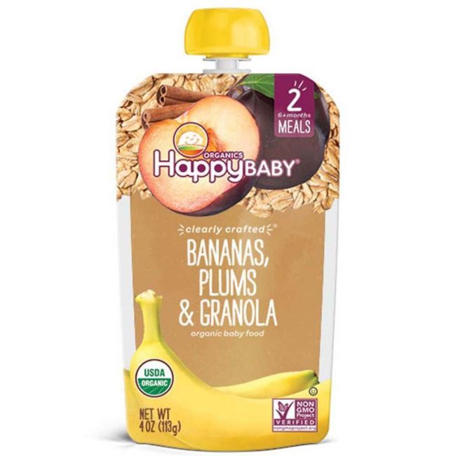 Happy Baby - S2 Bananas, Plums & Granola, 113g