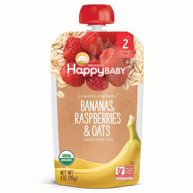 Happy Baby - S2 Bananas, Raspberries & Oats, 113g