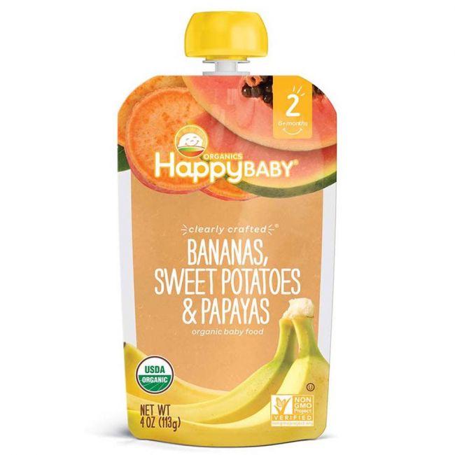 Happy Baby - S2 Bananas, Sweet Potatoes & Papayas,113g