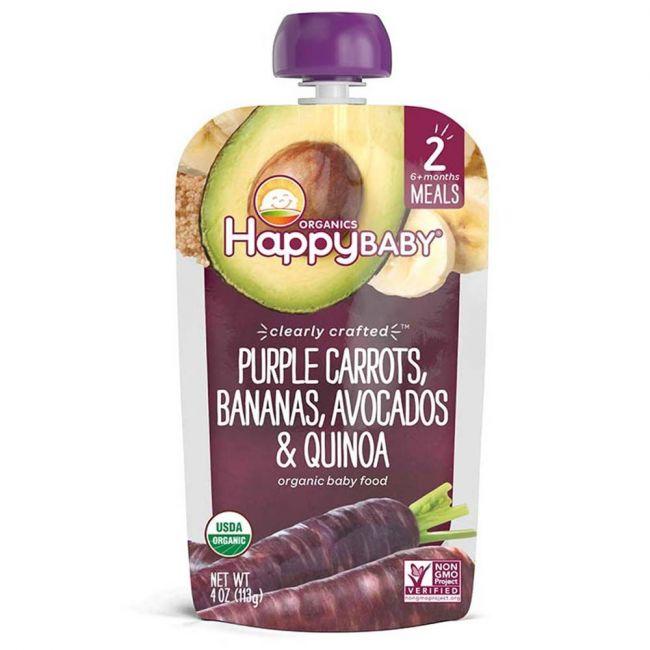 Happy Baby - S2 Purple Carrots, Bananas, Avocados & Quinoa, 113g