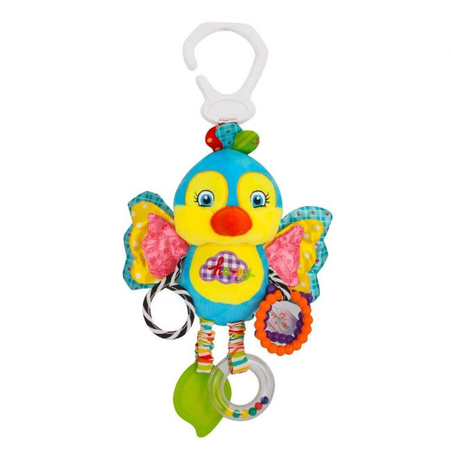 Happy Monkey - Baby Rattle Toys For Infant Soft Plush Stuffed Hanging Toy H168090-4B