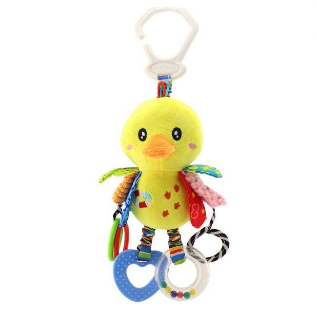 Happy Monkey - Baby Rattle Toys For Infant Soft Plush Stuffed Hanging Toy H168090-4C