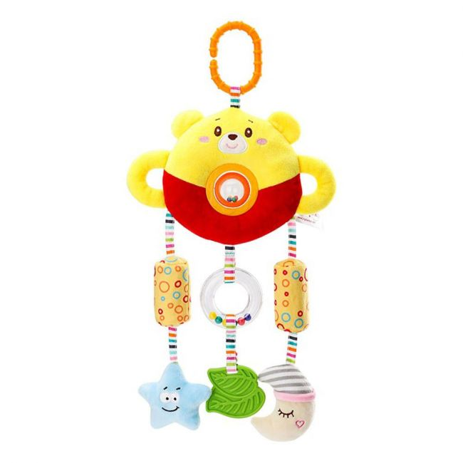 Happy Monkey - Baby Rattle Toys For Infant Soft Plush Stuffed Hanging Toy H168190-3A