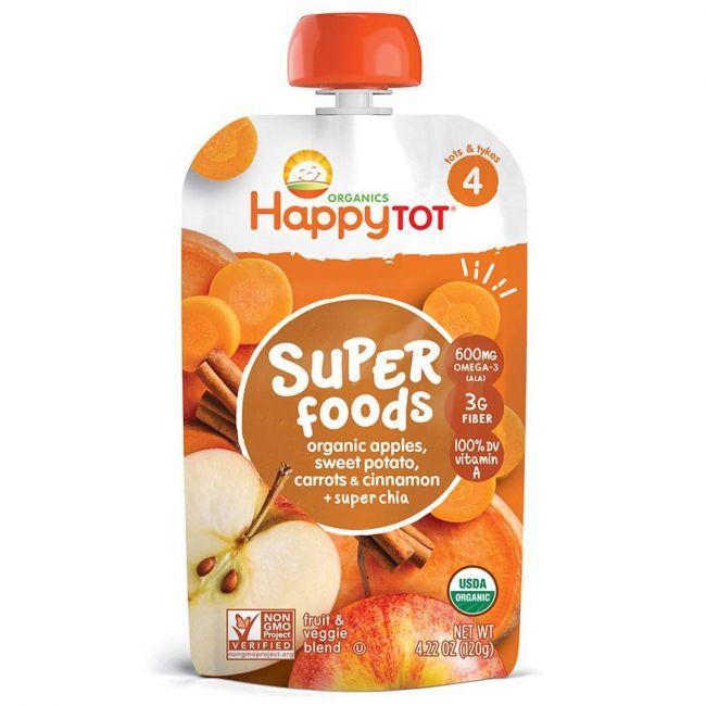 Happy TOT - S4 Apples Sweet Potatoes Carrots & Cinnamon, 120g