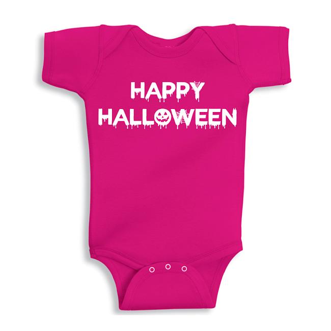 Twinkle Hands Happy Halloween, Pink Baby Onesie, Bodysuit, Romper