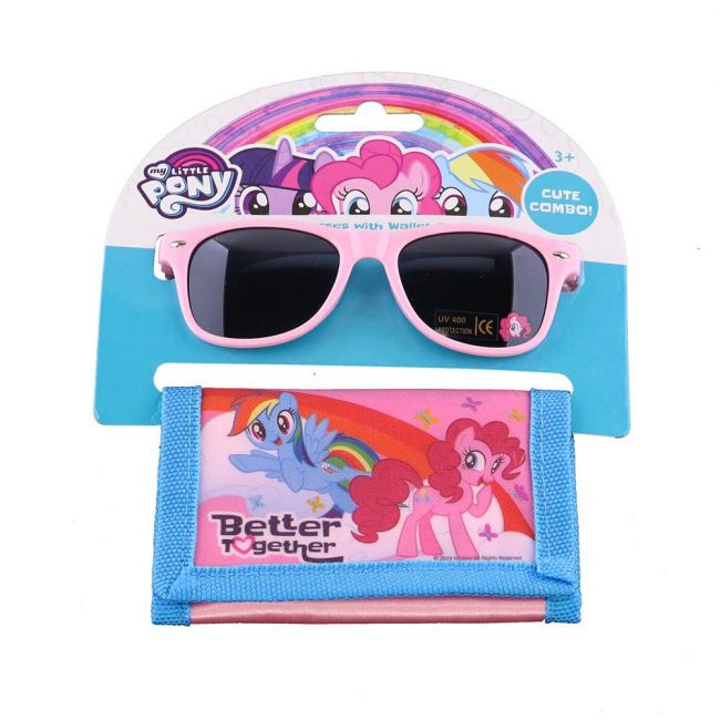 Hasbro Gaming - My Little Pony Kids Girls Sunglasses With Wallet Set