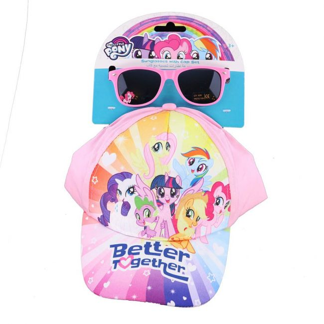 Hasbro Gaming - My Little Pony Printed Kids Cap With Sunglasses Set