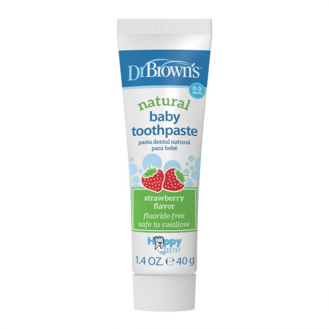 DrBrowns - Happy Teeth Fluoride-Free Toothpaste (Strawberry), 1-Pack