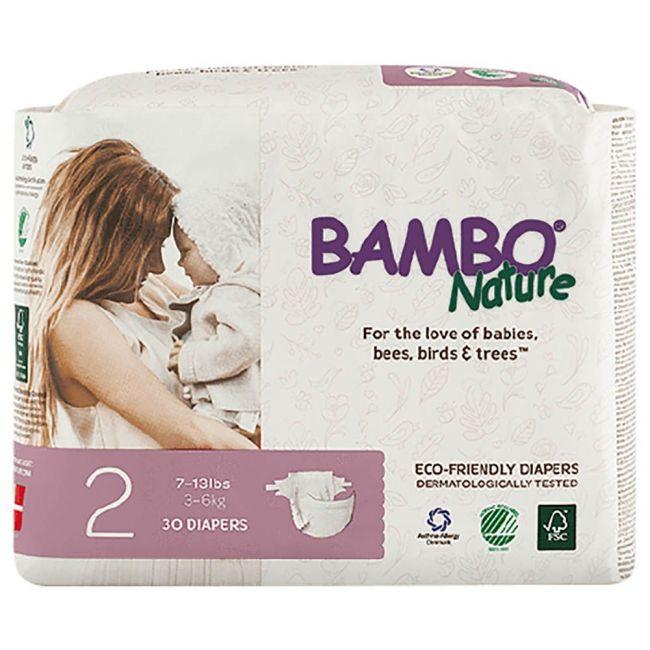 Bambo Nature - Eco Friendly Diapers, Mini 2, 3-6 kg - 30 Pcs