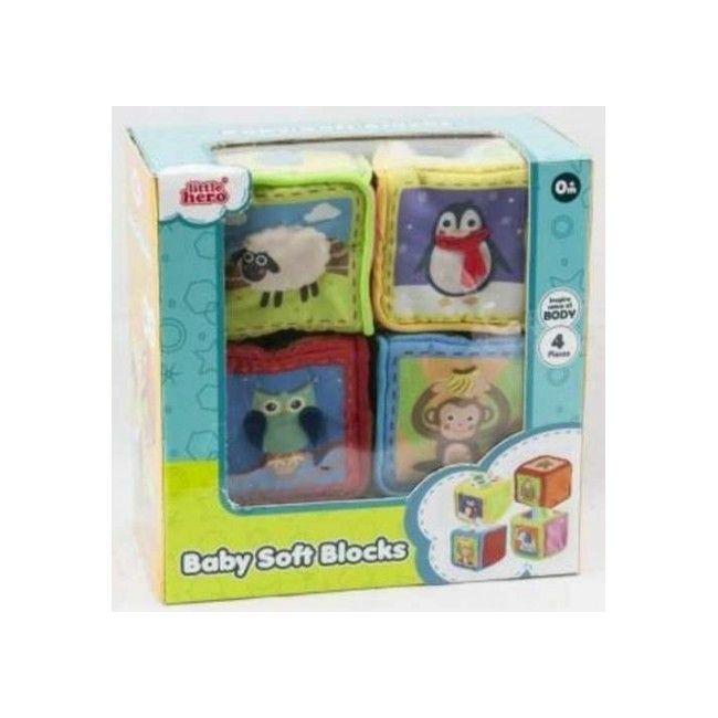Little Hero Grab & Sense Soft Cubes