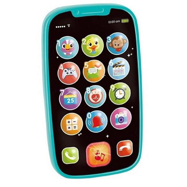 Hola Learning Educational Toys Cellphone with Light/Music for Baby Gift - Blue