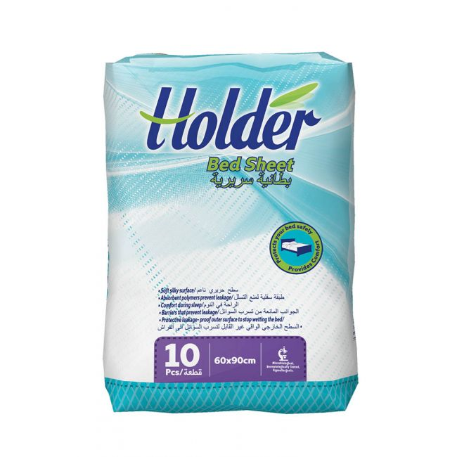 Holder - Incontinence Bedsheet, White, Size 60x90cm - Pack of 10