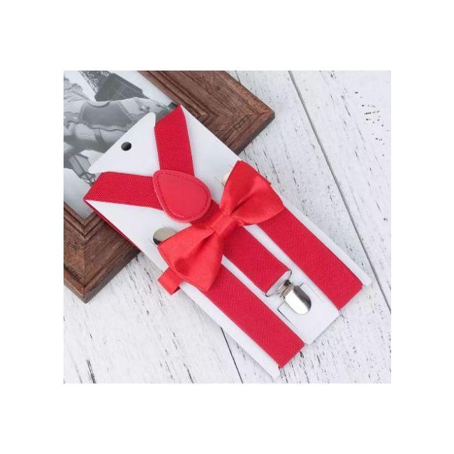 Holiday Fashion Bow Tie & Suspender