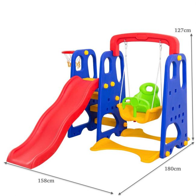 Home Canvas - Toddler Climber And Swing Set 3 In 1