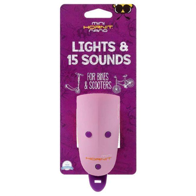 Hornit - Mini Nano Light & 15 Sounds - Purple