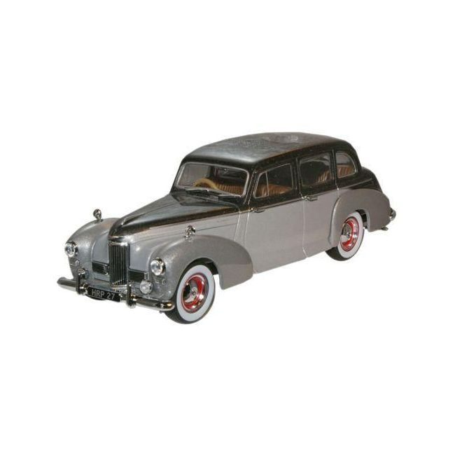 Oxford Diecast Black Pearl/Shell Grey Humber Pullman Limousine Toy Car