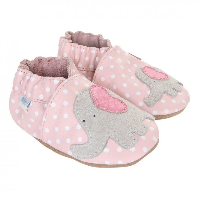 Robeez Little Peanut Soft Sole Shoes - For Girls - Pink
