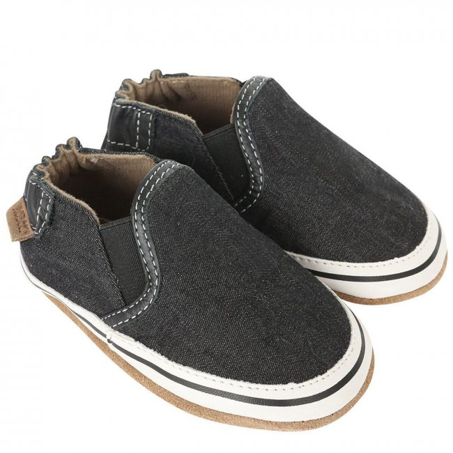 Robeez Liam Basic Soft Sole Shoes - For Boys - Black