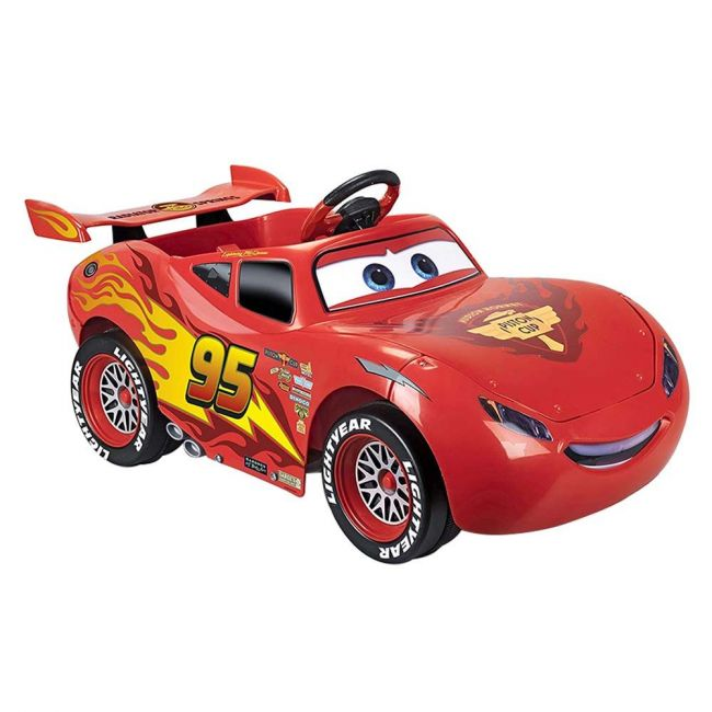 Feber Mcqueen Ride-On Car - 6V - Red - Light & Sound Ride On