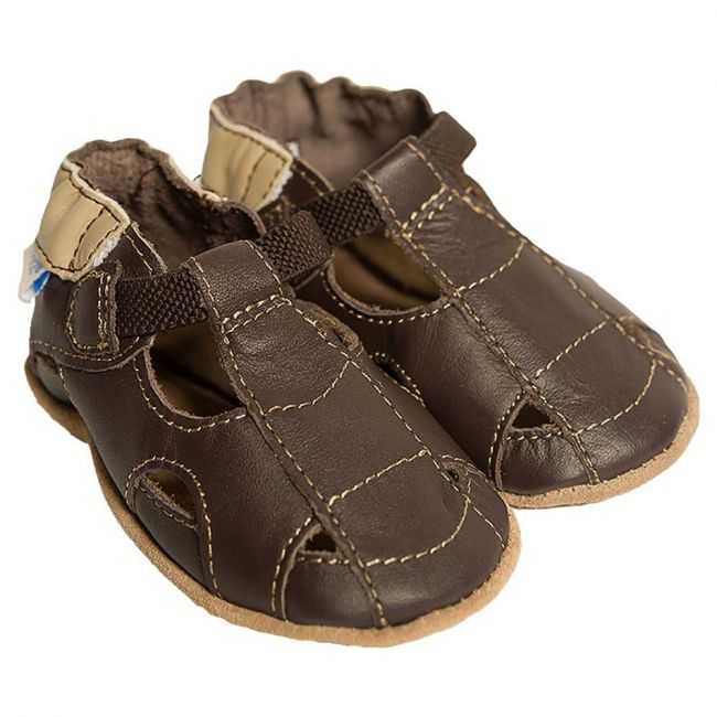 Robeez Fisherman Sandal Soft Sole Shoes - For Boys - Brown