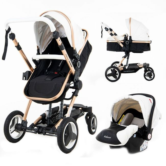 Belecoo 8 White - 4 in 1 Luxury Travel System