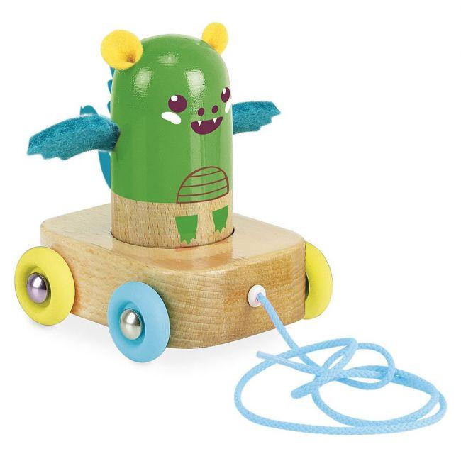 Vilac Dede The Dragon Maracas Pull Toy