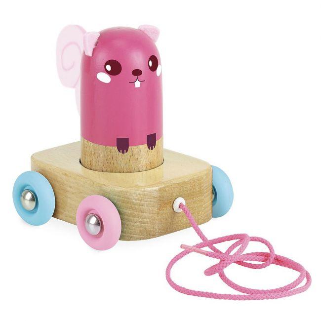 Vilac Mimi The Squirrel Maracas Pull Toy