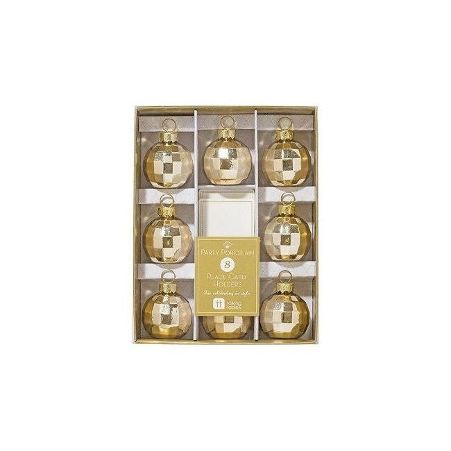 Talking Tables Party Porcelain Gold Place Card Holders