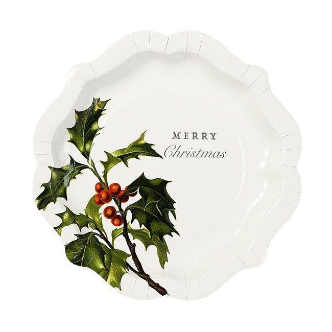 Talking Tables Botanical Christmas Paper Plates