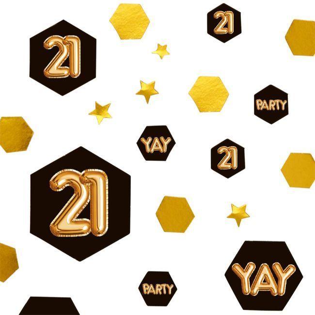 Neviti Glitz & Glamour Black & Gold Confetti Scatter - Age 21