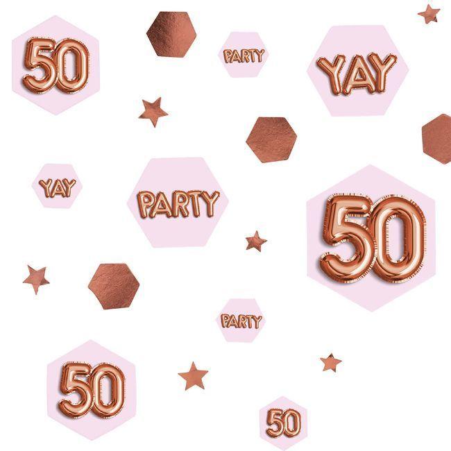 Neviti Glitz & Glamour Pink & Rose Gold Confetti Scatter - Age 50