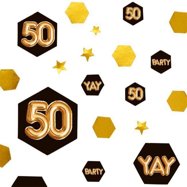 Neviti Glitz & Glamour Black & Gold Confetti Scatter - Age 50